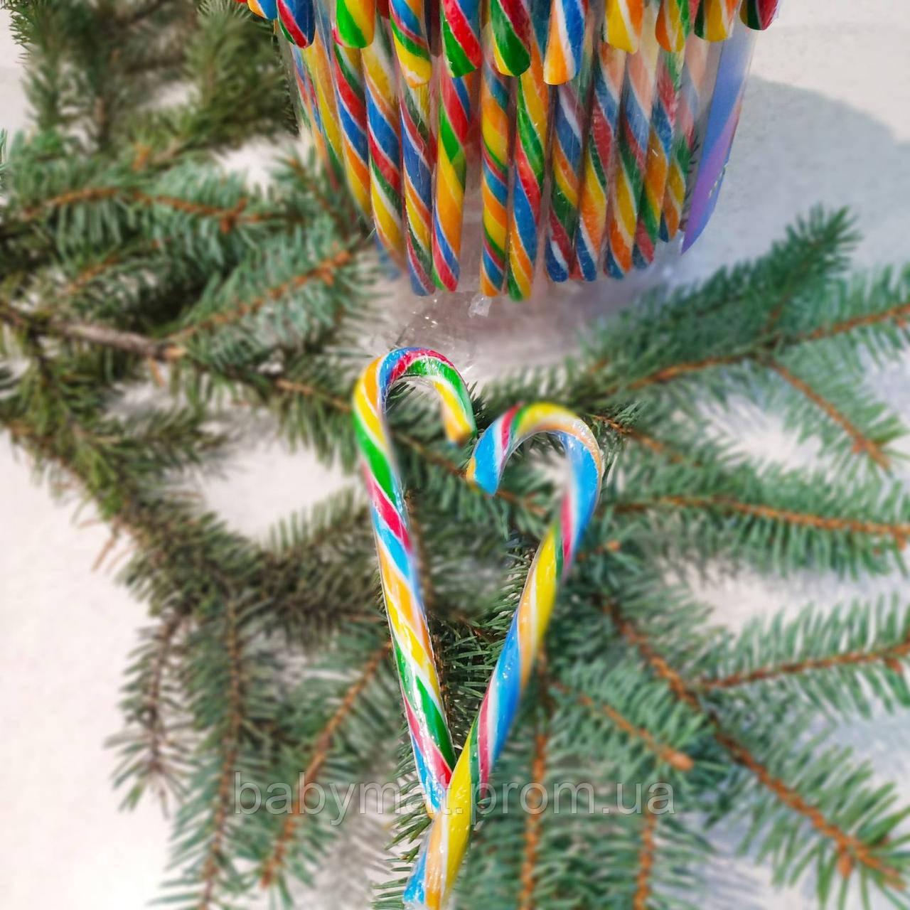 Candy Canes Новогодние леденцы трости карамель Тутти- Фрутти 12 грамм 12 см