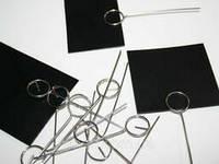Ценникодержатель иголка для гастрономии 8 см нержавейка 50 шт, фото 1