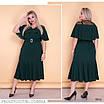 Платье миди низ расклешенный креп-дайвинг+вставки сетки 52-54,56-58,60-62, фото 4