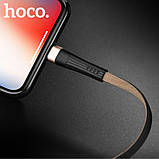Кабель USB Hoco U39 Lightning Slender Charging Gold+Black, фото 2