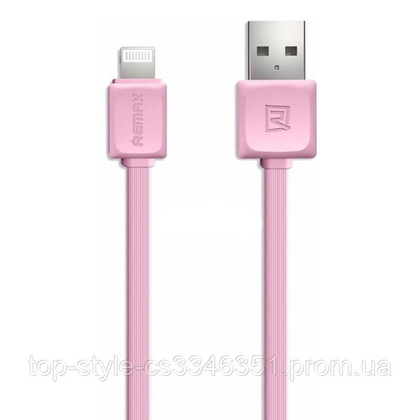 Кабель Remax Fast Data Lightning 1m Pink