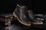Мужские ботинки кожаные зимние коричневые Yuves 444, фото 2