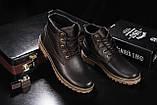 Мужские ботинки кожаные зимние коричневые Yuves 444, фото 3