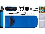 Селфи-монопод Momax SelfieHero 150cm with Bluetooth Black/Blue (KMS8D), фото 4