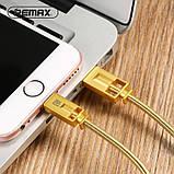 Кабель Remax Golden Lightning 1m Gold, фото 3