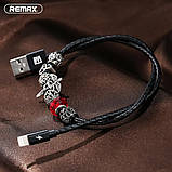 Кабель синхронизации Remax Jewellery RC-058i Lightning 0.5 м Black, фото 3