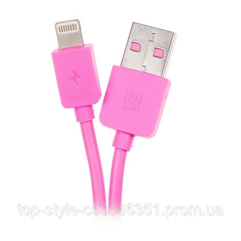 Кабель Remax Light round  Lightning  2M Pink