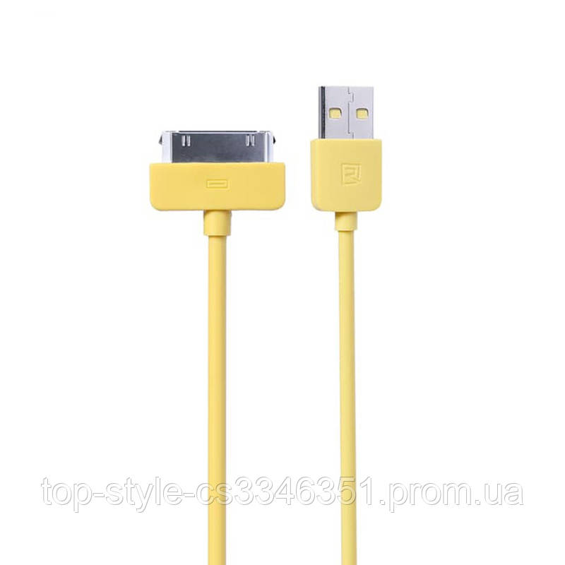 Кабель Remax Light round для iPhone 4 1M Yellow