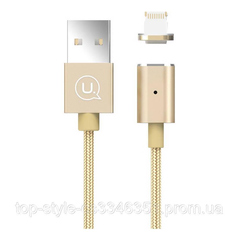 Кабель USB Usams US-SJ132 Магнитный Lightning Gold