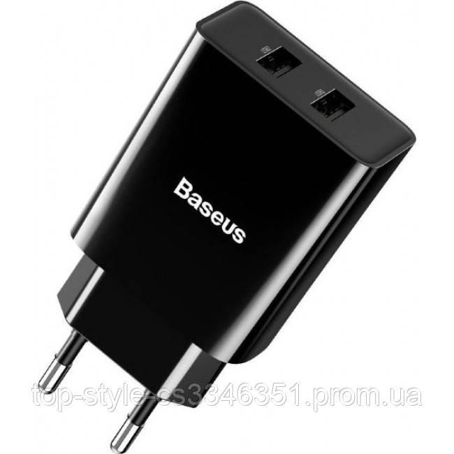 Сетевое зарядное устройство Baseus Speed Mini 2USB 10.5W Black