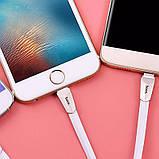 Кабель Hoco X4 Zing Alloy microUSB-USB White, фото 4