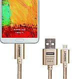 Кабель Lonsmax Braided Metal Micro USB 1M Silver, фото 3
