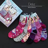 Подарочный набор (6 пар) детских махровых носков Disney Violetta 6028-2, шикарное качество. Размер 34-35