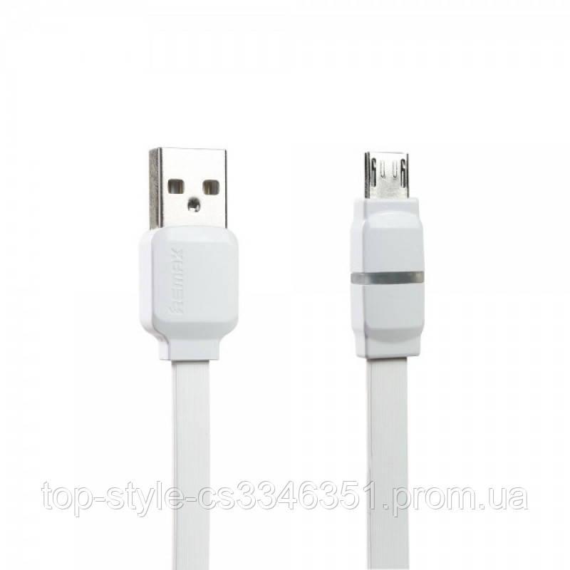 Кабель Remax RC-029m Breathe microUSB-USB 1m White