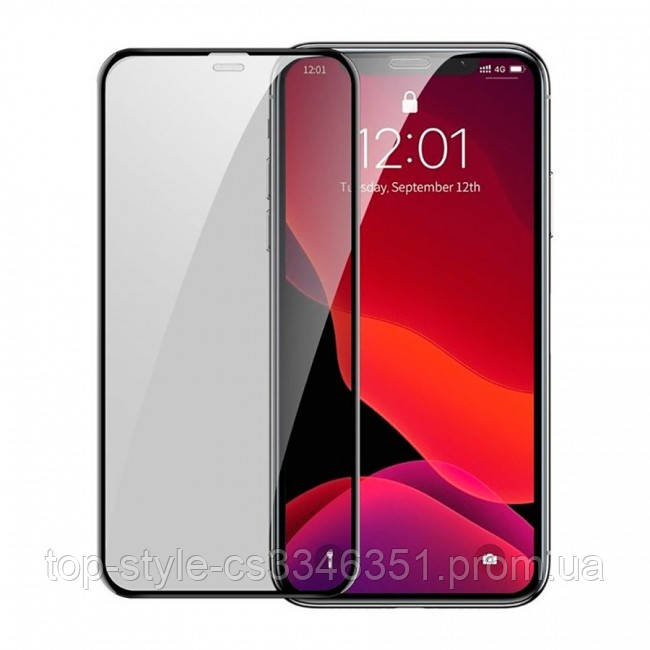 Защитное стекло Baseus Curved Privacy Tempered Glass Black для Apple iPhone 11 Pro Max / XS Max