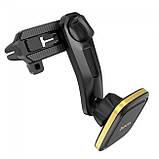 Магнитный держатель для смартфона в авто Hoco CA57 Black-Gold, фото 2
