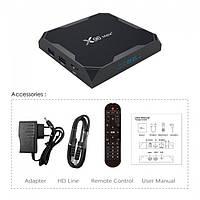 Приставка Smart TV Box X96 MAX Plus S905X3 4Gb/32Gb черный