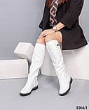 Сапоги Европейка кожаные белые, фото 2