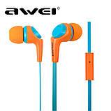 Наушники Awei ESQ6i Orange, фото 2