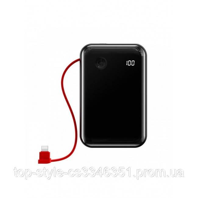 Power Bank Baseus Mini S Digital Display 3A 10000mAh (с кабелем Lightning) Black