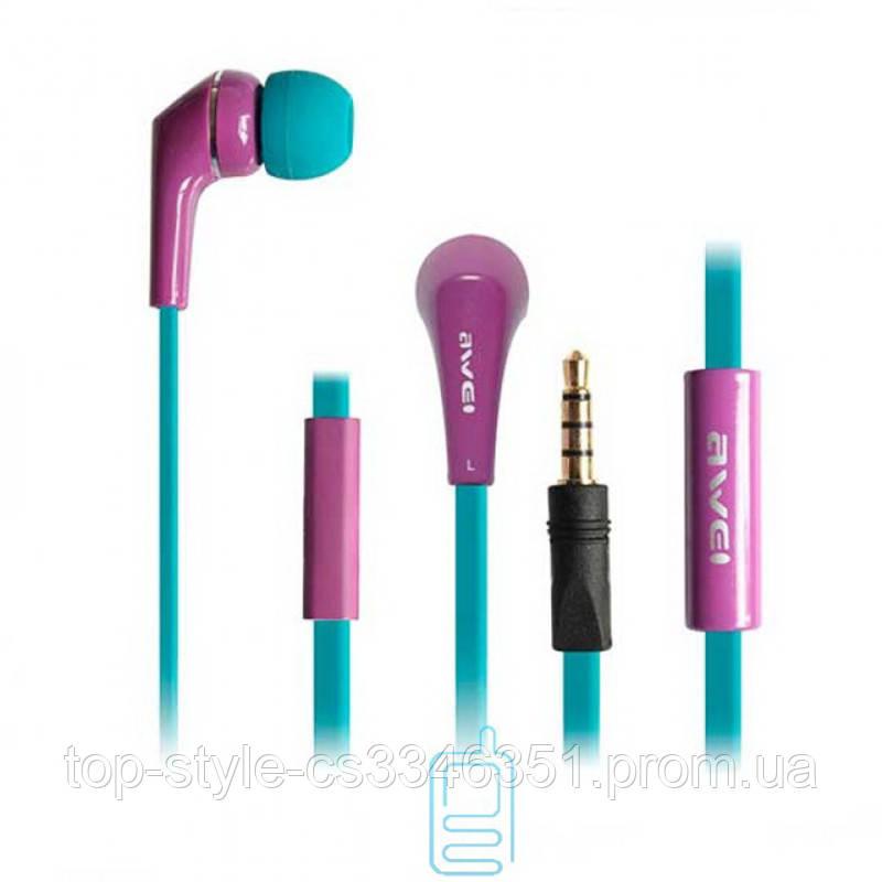 Наушники гарнитура вакуумные Awei ES-Q7i Purple