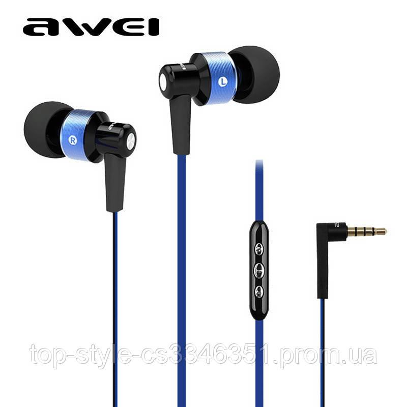 Наушники Awei TE55Vi голубой