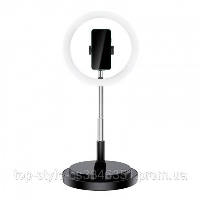 Кольцевая LED-лампа для селфи Usams US-ZB120 Stretchable Selfie Ring Light Black