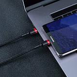 Кабель Type-C to Type-C с оплеткой Baseus Cafule PD2.0 flash charging (20V 3A) 1m Black, фото 4