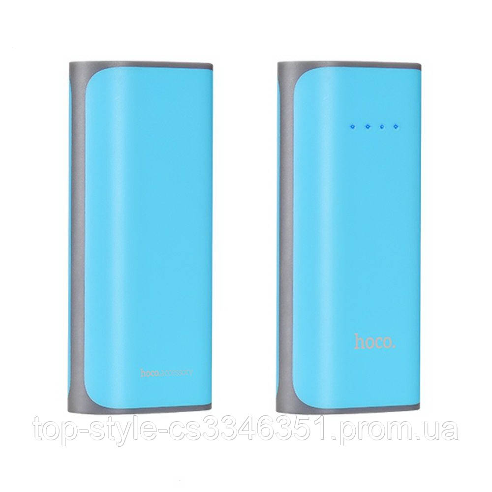 УМБ Power Bank Hoco B21 Concave pattern 5200 mAh Blue