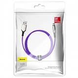 Магнитный кабель MicroUSB для зарядки с оплеткой Baseus Zinc Magnetic (Charging only) 2A 1m Purple, фото 2