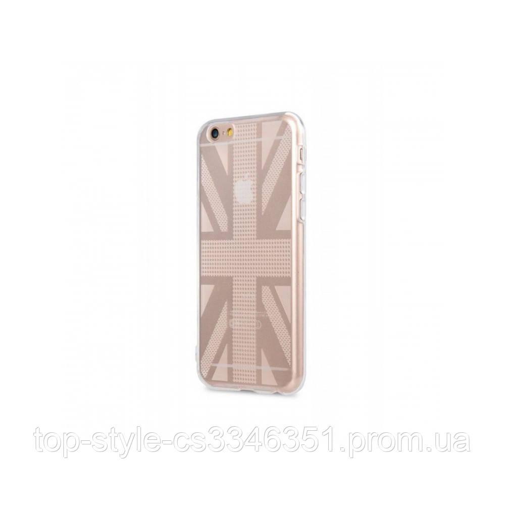 Чехол-накладка Melkco Nation TPU British Flag для iPhone 6/6S Transparent