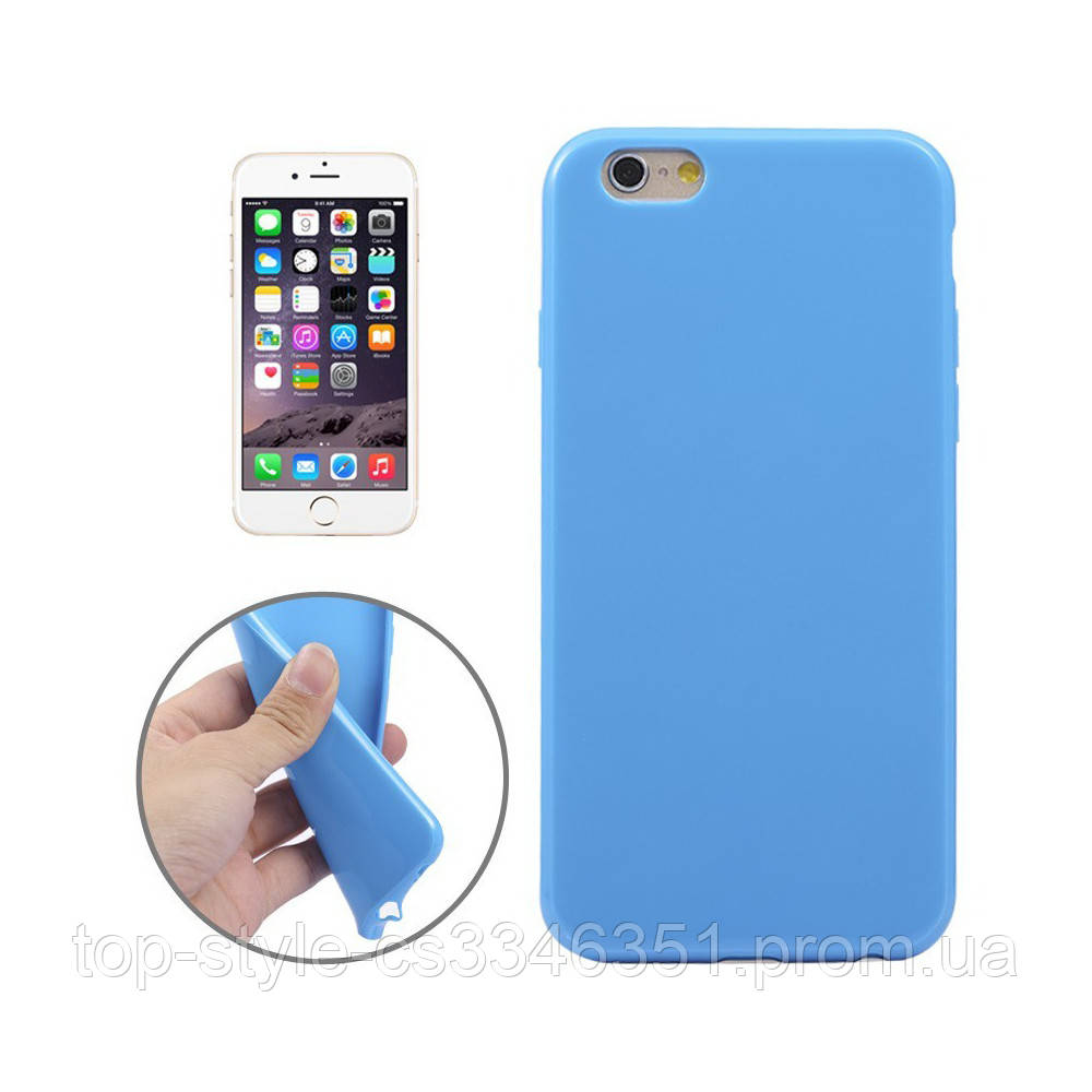 Чехол-накладка Melkco Silikonovy Case для iPhone 6 Plus/6s Plus Blue