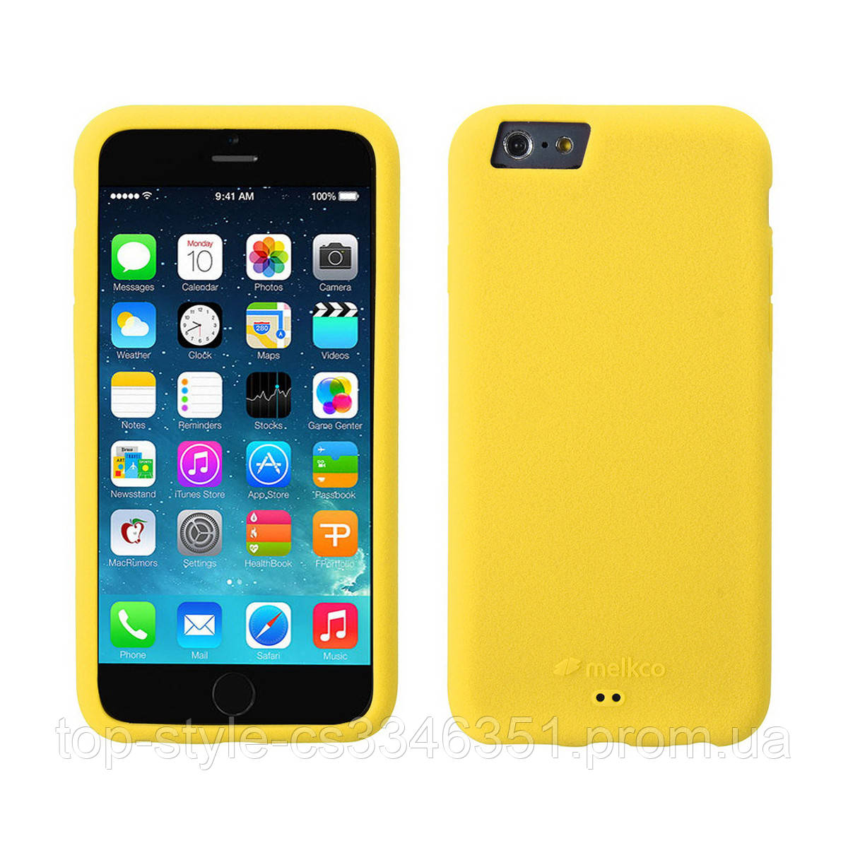 Чехол-накладка Melkco Silikonovy Case для iPhone 6/6s Yellow