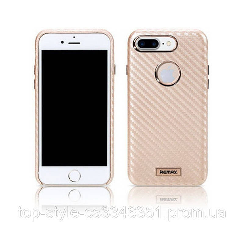 Чехол-накладка Remax Carbon Series Case for iPhone 7/8 Gold