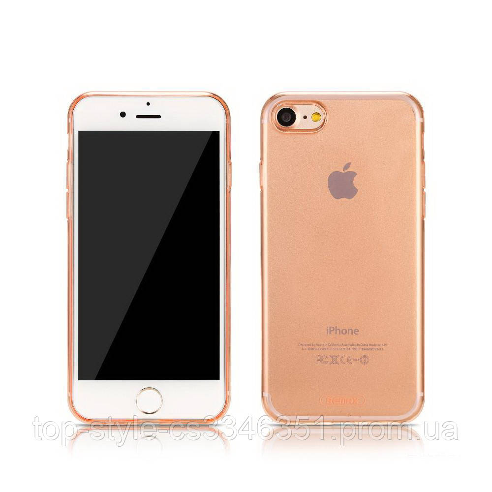 Чехол-накладка Remax Crystal TPU для iphone 7/8 Gold