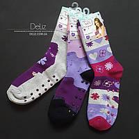 Дитячі махрові шкарпетки Disney Violetta 6028-3, шикарне якість. Розмір 30-31 колір СІРИЙ