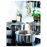 Набір посуду 5 предметів, скло, нержавіюча стальІКЕА ANNONS АННОНС, фото 2
