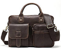 Сумка - портфель мужская Vintage 14667 Коричневая, фото 1