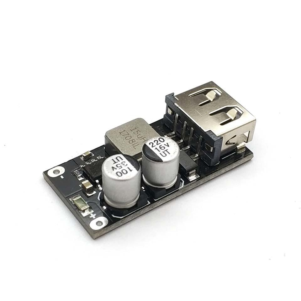 DC-DC понижающий преобразователь c поддержкой QC2.0, QC3.0, вход 6-32V, выход USB 5V