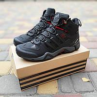 Зимние кроссовки Adidas Fastr черный реплика, фото 1