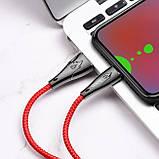 Кабель Hoco U75 Blaze magnetic MicroUSB 1.2m Red, фото 3