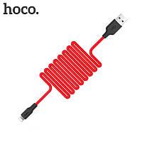 Зарядка USB кабель Hoco X21 USB для Huawei P30 Pro USB Type-C Red