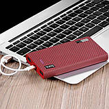 Power Bank Hoco B36 Wooden 13000mAh Red Cell Pattern, фото 2