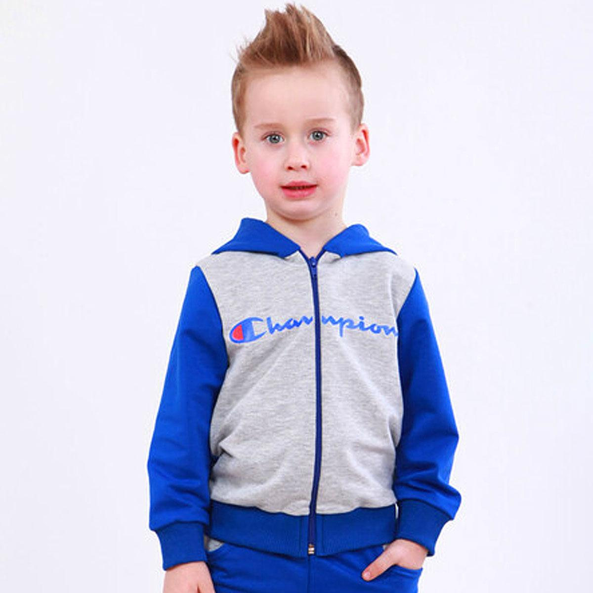Спортивная детская кофта с принтом для мальчика Amodeski двухнитка