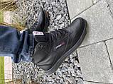 Мужские кеды кожаные зимние черные CrosSAV 300 Classik, фото 2