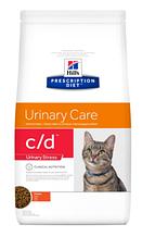 Лечебный корм для кошек HILL'S (Хиллс) PD Feline C/D Urinary Stress при струвитах, циститах (курица), 400 г