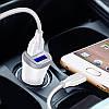Автомобильное зарядное устройство Joyroom C-M216 c Micro USB (2USB 3.1А) White, фото 3