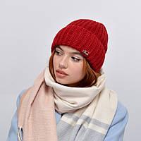 Женская шапка veilo на флисе 3387 бордо