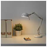 Настільна лампа IKEA FORSA білий 304.391.17, фото 3