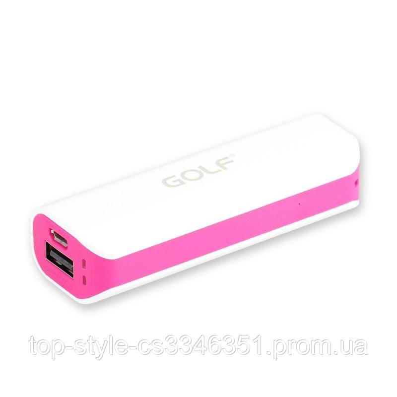 УМБ Power Bank Golf Lonsmax GF-027 8000mAh White/Pink